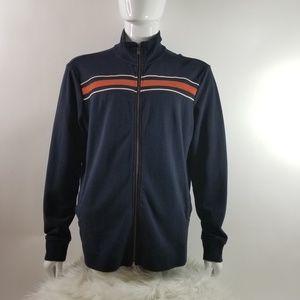 Banana Republic Stripes Sweatshirt Zipper-Front